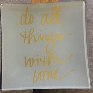 Other - Decorative Plate with quote
